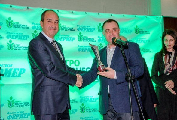 The CEO of BULAGRO Hristofor Bunardzhiev is awarded for the second time the title Agrobusinessman of the year